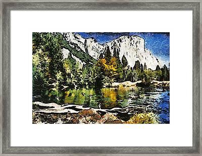 Half Dome At Yosemite Abstract Framed Print