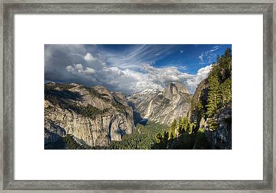 Half Dome From Four Mile Framed Print by Chris Martin