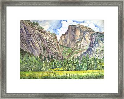 Half Dome In Spring Framed Print by Heewon Kim