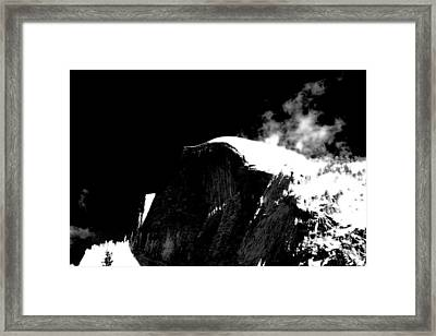 Half Dome In Winter Bw Framed Print