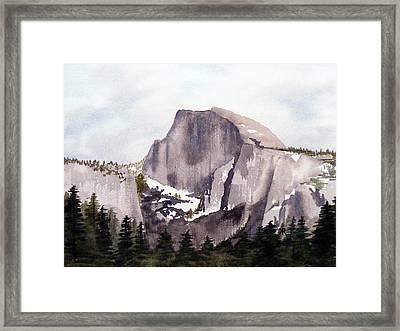 Half Dome Framed Print by Kari Raley