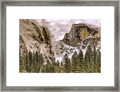 Menacing Rocks Framed Print