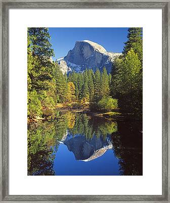 2m6709-half Dome Reflect - V Framed Print
