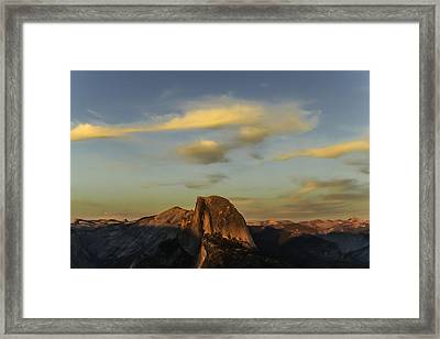 Half Dome Sunset Framed Print