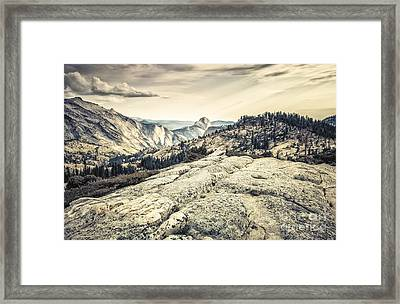Half Dome View Framed Print