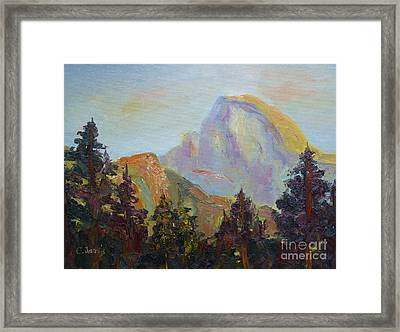 Half Dome View Framed Print by Carolyn Jarvis
