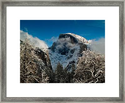Half Dome Winter Framed Print by Bill Gallagher