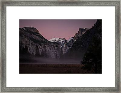 Half Dome Winter Sunset Framed Print by Scott McGuire