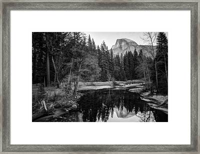 Half Dome - Yosemite In Black And White Framed Print by Gregory Ballos