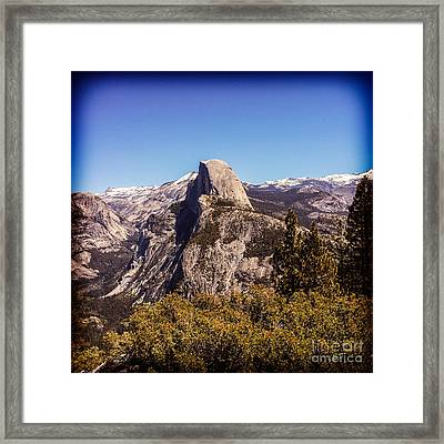 Half Dome Yosemite Nationa Park Framed Print by Colin and Linda McKie