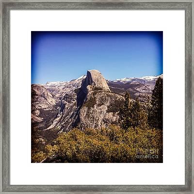 Half Dome Yosemite Nationa Park Framed Print