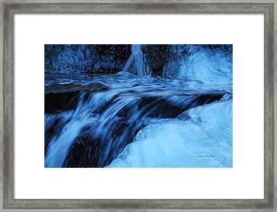 Half Frozen Framed Print by Donna Blackhall