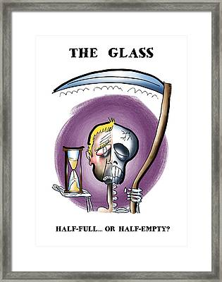 Half Full Or Half Empty Framed Print
