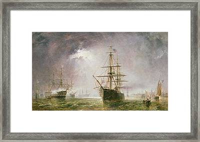 Half Mast High 19th Century Framed Print by  Robert  Dudley