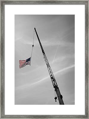 Half-mast Framed Print by Luke Moore