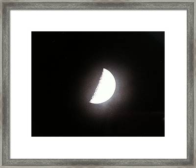 Framed Print featuring the photograph Half Moon by Alohi Fujimoto