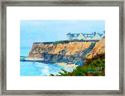 Half Moon Bay 2 Framed Print by Betty LaRue