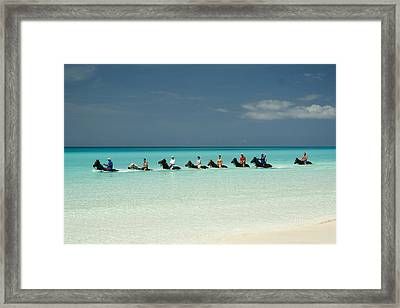 Half Moon Cay Bahamas Beach Scene Framed Print by David Smith