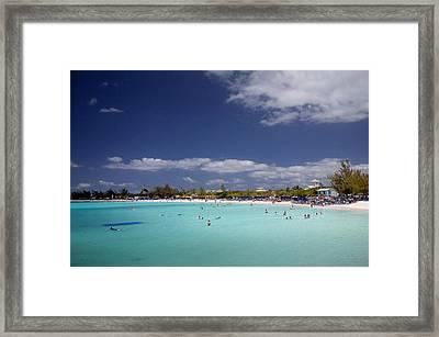Half Moon Cay Cove Framed Print by Jack Nevitt