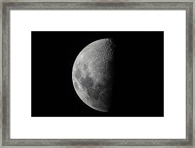 Half Moon Close Up Framed Print by David Trood