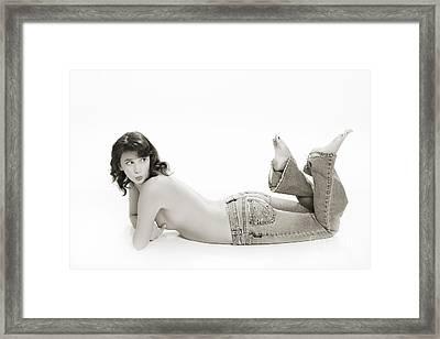 Half Nude Looking Back 1040.01 Framed Print by Kendree Miller