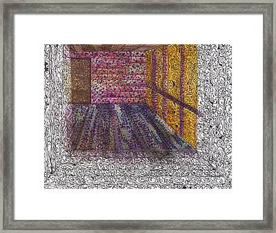 Half Of A Room Framed Print by Rachel Adams