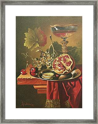 Half Of Pomegranate For You Framed Print by Dusan Vukovic