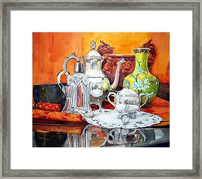Half Past Tea Framed Print by Gerald Carpenter