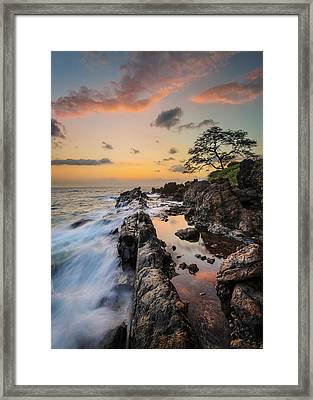 Framed Print featuring the photograph Half Reflection by Hawaii  Fine Art Photography