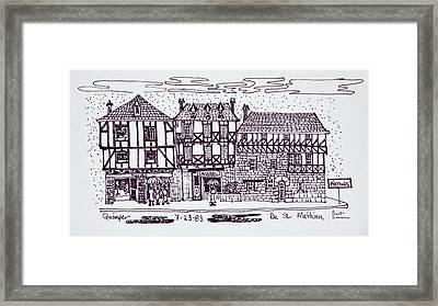 Half-timbered Architecture Along Rue St Framed Print