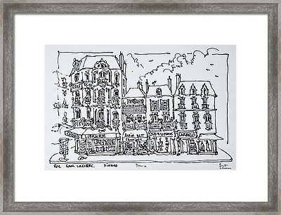 Half-timbered Architecture, Dinan Framed Print