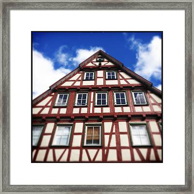 Half-timbered House 05 Framed Print