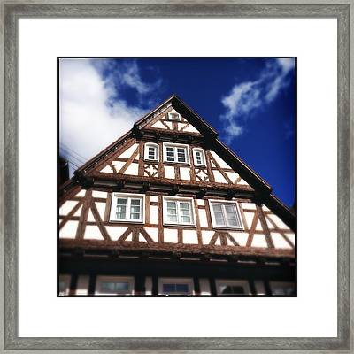 Half-timbered House 08 Framed Print