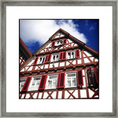 Half-timbered House 09 Framed Print