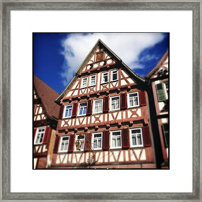 Half-timbered House 10 Framed Print