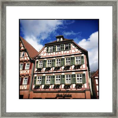 Half-timbered House 11 Framed Print