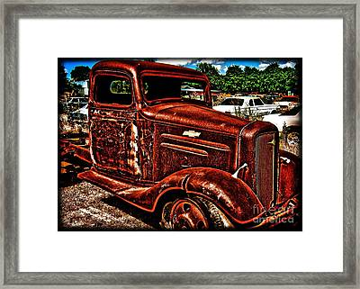 Half Ton Chevy - No.0243h Framed Print