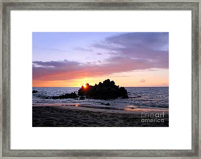 Framed Print featuring the photograph Hali A Aloha by Ellen Cotton