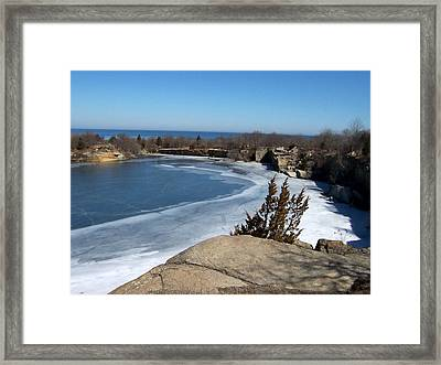 Icy Quarry Framed Print by Catherine Gagne