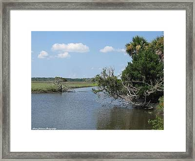 Framed Print featuring the digital art Halifax At Daytona Beach by Brian Johnson