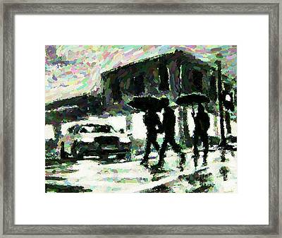 Halifax In The Rain One Framed Print by John Malone