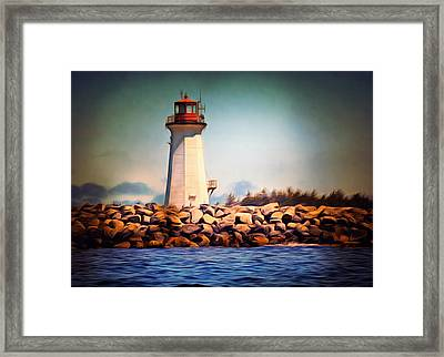 Halifax Lighthouse Nova Scotia Framed Print by Georgiana Romanovna