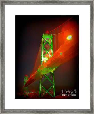 Halifax Macdonald Bridge Abstract Framed Print by John Malone