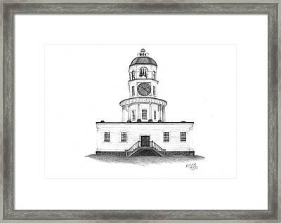 Halifax Town Clock Framed Print by Patricia Hiltz