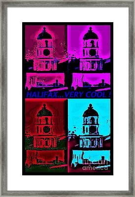 Halifax Very Cool Pop Art Framed Print by John Malone