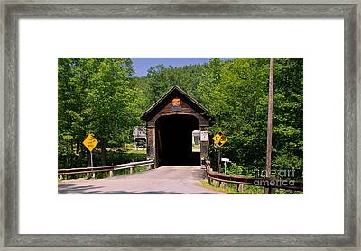 Hall Covered Bridge. Framed Print by New England Photography