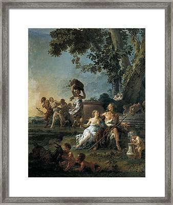 Hall�, No�l 1711 - 1781. The Grape Framed Print by Everett