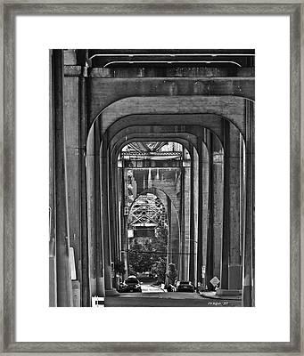 Hall Of Giants - Beneath The Aurora Bridge Framed Print