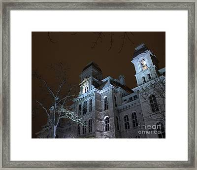 Hall Of Languages Framed Print