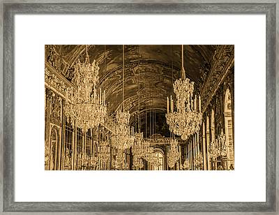 Hall Of Mirrors -sepia -  Versailles France Framed Print